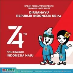 174 Dirgahayu Republik Indonesia Ke-74
