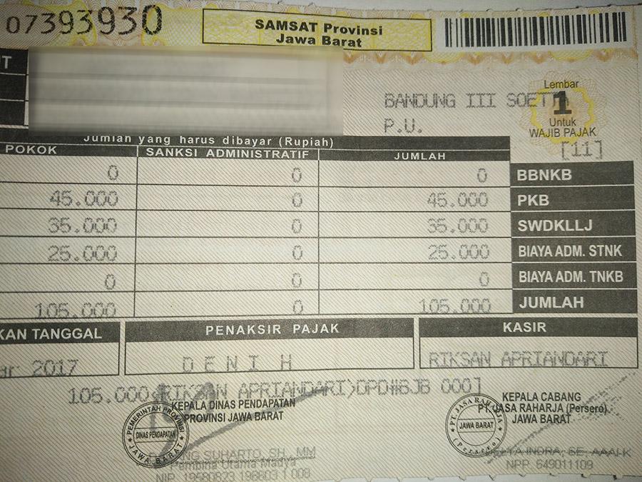Cara Mengetahui Biaya Pajak Kendaraan Bermotor Jawa Barat Bapenda