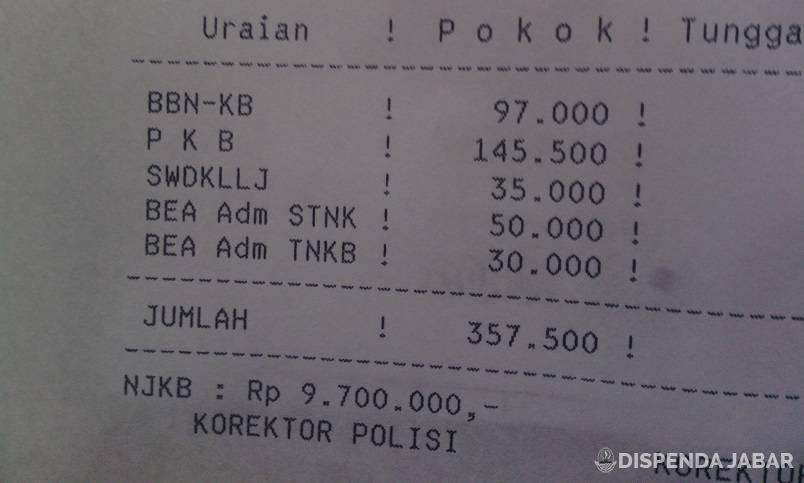 Bea Balik Nama Kendaraan Bermotor Gratis Jawa Barat 2016 ...