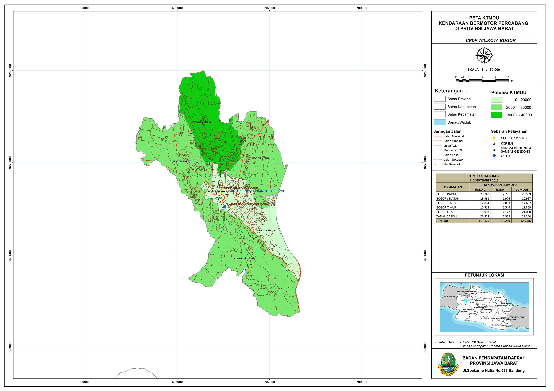 Peta KTMDU Cabang Kota Bogor - BAPENDA JABAR