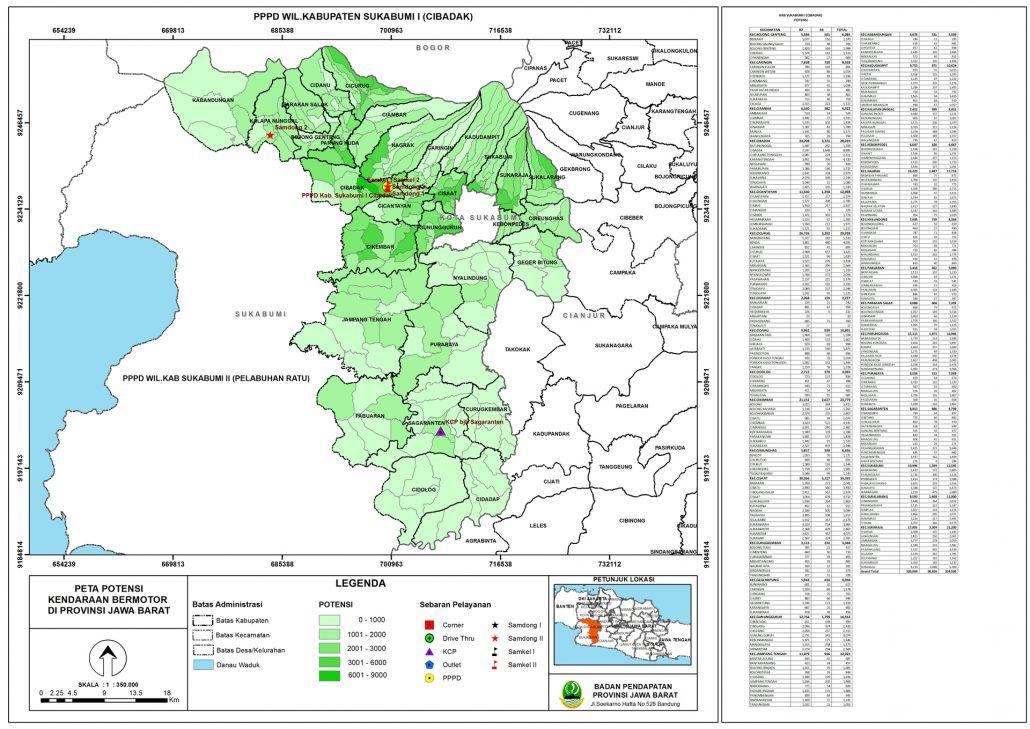 Peta Potensi Kendaraan Bermotor Cabang Kabupaten Sukabumi ...
