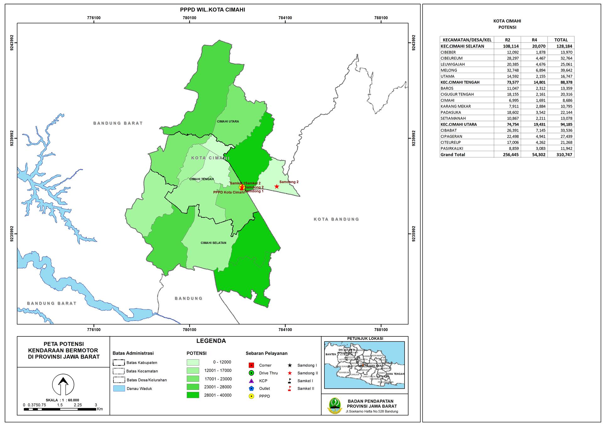 Peta Potensi Kendaraan Bermotor Cabang Kota Cimahi ...